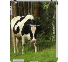 Holstein Cow Next to Trees iPad Case/Skin