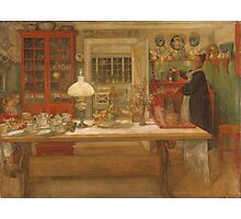 Vintage famous art - Carl Larsson - Getting Ready For A Game Photographic Print