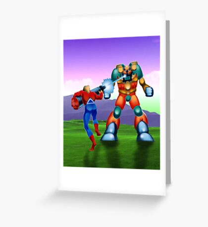 Space Harrier 3-D Greeting Card