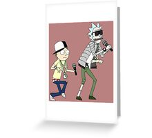 rick n morty dance Greeting Card