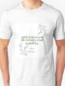 """And yes I said yes I will yes"" James Joyce Print Unisex T-Shirt"
