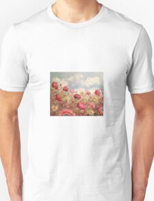 Spring Floral Poppies  Unisex T-Shirt