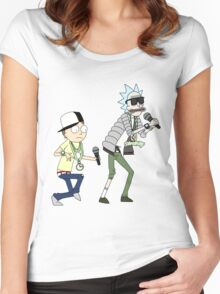 rick n morty dance Women's Fitted Scoop T-Shirt