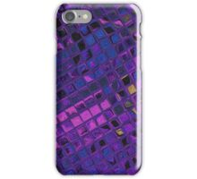 Purple lilac blue geometric decorative pattern iPhone Case/Skin