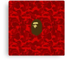 APE WITH RED CAMO Canvas Print