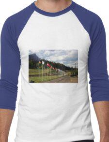 Nordic Ski Centre, Canmore, Alberta Men's Baseball ¾ T-Shirt