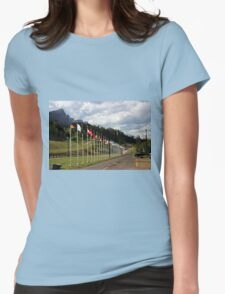 Nordic Ski Centre, Canmore, Alberta Womens Fitted T-Shirt