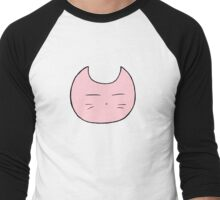 Pink Pastel Cat Men's Baseball ¾ T-Shirt