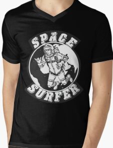 space surfer crest Mens V-Neck T-Shirt