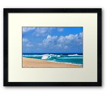 North Shore Turquoise - Impressions of Hawaii  Framed Print