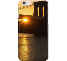 New York City Magic - Iconic Brooklyn Bridge Sunrise iPhone Case/Skin