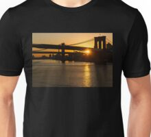 New York City Magic - Iconic Brooklyn Bridge Sunrise Unisex T-Shirt