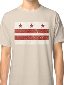 Washington DC Flag w/ Vintage Map  Classic T-Shirt