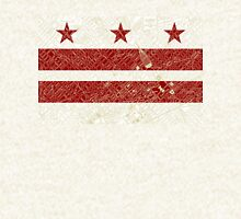 Washington DC Flag w/ Vintage Map  Zipped Hoodie