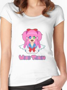 Weeb Trash Women's Fitted Scoop T-Shirt