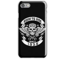 Born to ride since 1956 iPhone Case/Skin