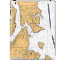Seattle Washington Puget Sound Nautical Map iPad Case/Skin
