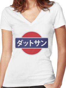 Datsun Japan Women's Fitted V-Neck T-Shirt