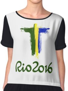 Rio 2016 Brazil Chiffon Top