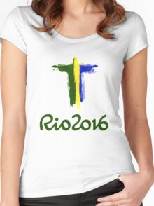 Rio 2016 Brazil Women's Fitted Scoop T-Shirt