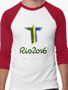 Rio 2016 Brazil Men's Baseball ¾ T-Shirt
