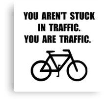 Bike Traffic Canvas Print