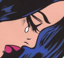 Crying Comic Girl Sticker