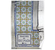 Travessa da Queimada – Lisbon Poster