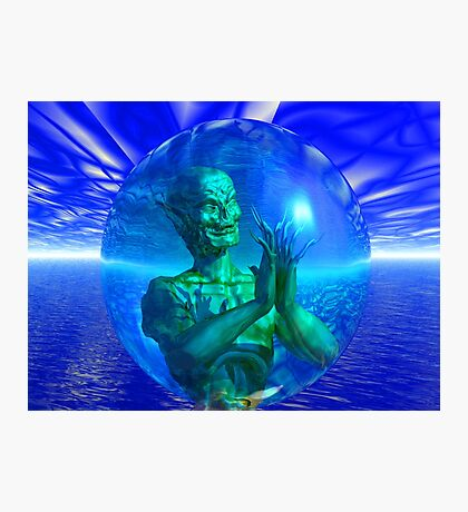 Monster in a Bubble Photographic Print
