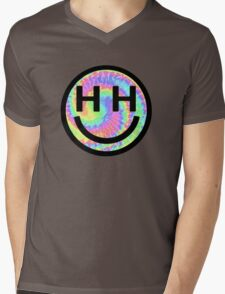 Happy Hippie Foundation Logo [Tie-Dye] Mens V-Neck T-Shirt