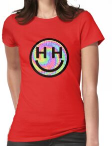 Happy Hippie Foundation Logo [Tie-Dye] Womens Fitted T-Shirt