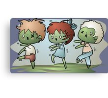 Kawaii Zombies Canvas Print
