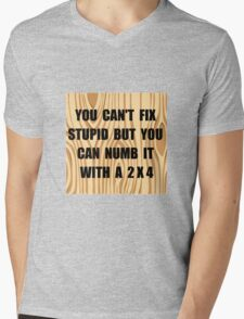 Numb Stupid Mens V-Neck T-Shirt