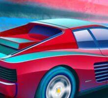Ferrari Testarossa Poster Artwork  Sticker