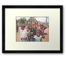 CHILDREN IN BATTI VILLAGE Framed Print