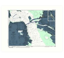 San Francisco Bay Map Art Print