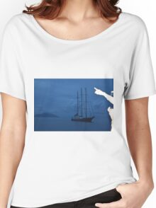 Boat by Sillouette Island - unedited Women's Relaxed Fit T-Shirt