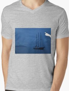 Boat by Sillouette Island - The Ibiza crop Mens V-Neck T-Shirt