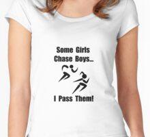 Run Pass Boys Women's Fitted Scoop T-Shirt