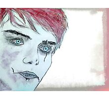 GERARD WAY AS A ZOMBIE Photographic Print