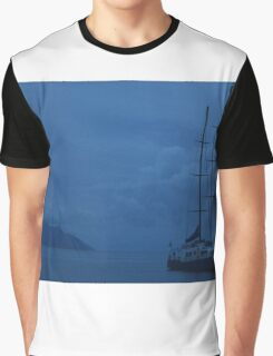 Boat by Sillouette Island - Fully cropped Graphic T-Shirt