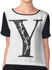 Serif Stamp Type - Letter Y Chiffon Top