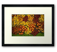 Bunches of Yellow, Copper, Orange, Red, Maroon - Fabulous Autumn Abundance Framed Print