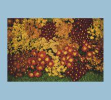 Bunches of Yellow, Copper, Orange, Red, Maroon - Fabulous Autumn Abundance Kids Tee
