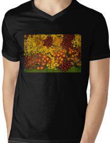 Bunches of Yellow, Copper, Orange, Red, Maroon - Fabulous Autumn Abundance Mens V-Neck T-Shirt