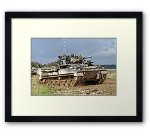British Army Warrior Infantry Fighting Vehicle Framed Print