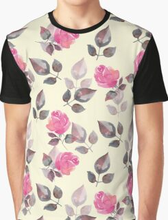 Background with beautiful roses Graphic T-Shirt
