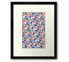Rectangle of Colorful Triangles Framed Print