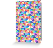 Rectangle of Colorful Triangles Greeting Card