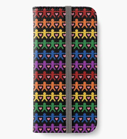 Hand in Hand with Love Pattern Art iPhone Wallet/Case/Skin